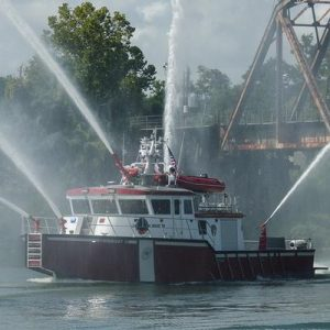 two hour fireboat sea trial for four Kingston